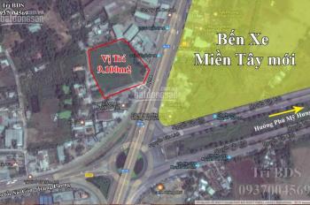 Trí BĐS đất 9.100m2 mặt tiền Quốc Lộ 1A, Tân Túc ngay vòng xoay Nguyễn Văn Linh. Giá tốt