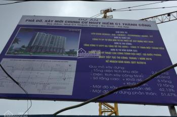 Bán suất ngoại giao chung cư C1 Thành Công, DT: 57m2 đến 88m2, giá rẻ 36 tr/m2
