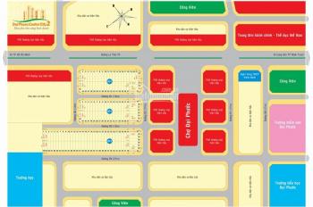 Bán đất chợ Đại Phước, MT Lý Thái Tổ LKP3 ô 45 đường D4 dự án Đại Phước 2 giá 2tỷ3, LH 0933988290