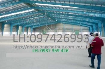 Nhà xưởng + kho xưởng cho thuê khu vực quận 12 - DT: 300m2, 500m2, 800m2, 4.500m2, 11.000m2
