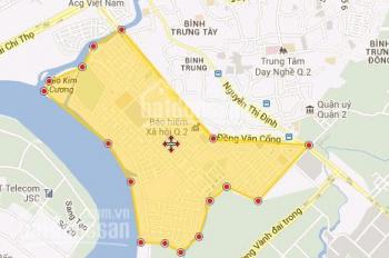 Đất Đồng Văn Cống dự án KDC số 1, Thạnh Mỹ Lợi, Q.2, DT: 99.75m2, 23tr/m2 sổ hồng, LH: 0901194345
