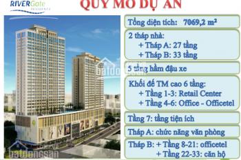 Cần bán gấp lô officetel 1.95 tỷ, River Gate, mặt tiền Bến Vân Đồn, 0909043080