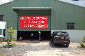 Cho thuê nhà xưởng vòng xoay An Phú, Bình Dương. DT: 300m2, 500m2, 1000m2, 2000m2, LH 0937.388.709