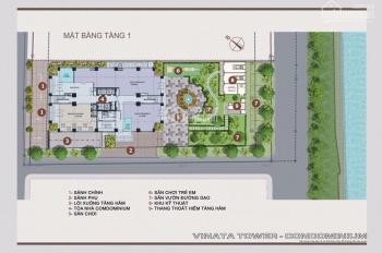 Bán sàn thương mại tầng 1 chung cư cao cấp Vinata - 289 Khuất Duy Tiến. Siêu hot 0914.102.166