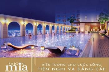 Căn hộ cao cấp khu Trung Sơn - Sài Gòn Mia, CK 5% + full nội thất 3 mặt view sông. LH 0903066813