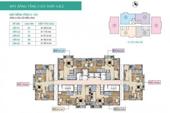 Bán căn hộ CC Báo Nhân dân Xuân Phương Tasco, CH 806, DT: 97.6m2, giá bán 20tr/m2. 093633873