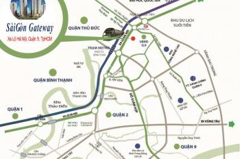 Cần bán gấp căn hộ Sài Gòn Gateway giá gốc CĐT, căn 65m2 view mặt tiền Xa Lộ Hà Nội. LH: 0909108139