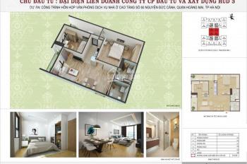 Chính chủ nhượng lại căn hộ 52m2 gồm 2 phòng ngủ tòa HUD3 Nguyễn Đức Cảnh, nhận nhà ở luôn