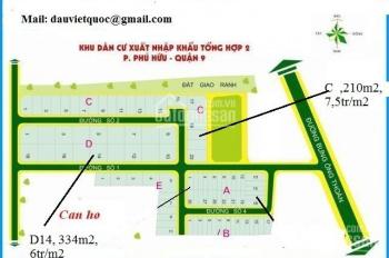 Bán đất nền sổ đỏ lô A, lô B dự án Xuất Nhập Khẩu, Phú Hữu, Quận 9. Giá 41 tr/m2