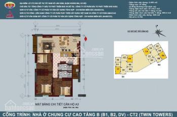 Tôi cần căn hộ 96m2 (3 phòng ngủ) tòa B1-B2 Linh Đàm (HUD 2 Twin Tower) sổ đỏ cc