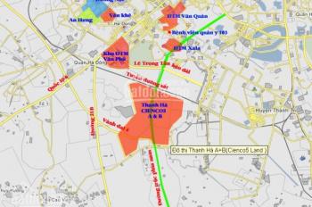 Bán đất liền kề biệt thự dự án Thanh Hà Cienco5 Hà Đông, Hà Nội, diện tích chỉ có 77m2, 85m2, 100m2