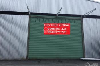 Nhà xưởng cho thuê DT 1000m2 giá 40tr/tháng, đường Tô Ngọc Vân, Quận 12, LH: 0937.388.709
