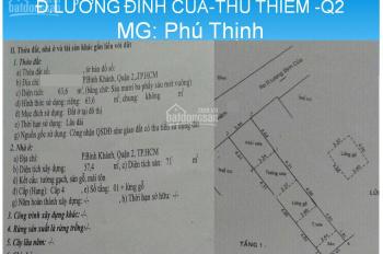 Cần bán gấp nhà cấp 4, Lương Định Của, Thủ Thiêm, Q2, S=63.6m2, giá 4.65tỷ