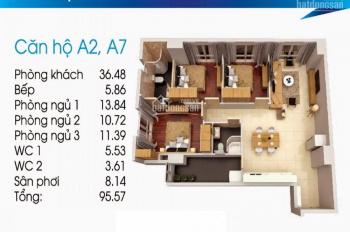 Căn hộ Topaz City 3 phòng ngủ. Diện tích 96m2, giá 2,770 tỷ, view Bitexco và Landmark 81