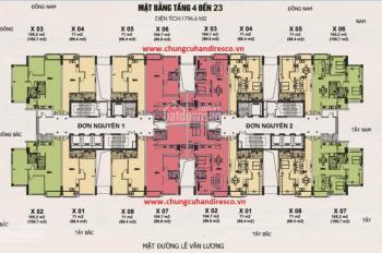Chung cư Handi Resco Lê Văn Lương diện tích 66.4 m2 171m2
