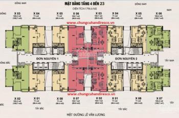 Chung cư Handi Resco Lê Văn Lương diện tích 66.4m2 - 171m2. Giá 32 tr/m2