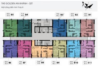 Bán chung cư Golden An Khánh, 32 tầng, 1805-B: 65,9m2 và 1604-C: 92,2m2, giá 14tr/m2, 0984 486 179