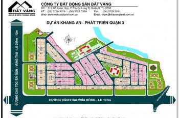 Bán lô đất lock A4 khu dân cư Khang An, Phú Hữu, Quận 9, DT 147m2, giá 45tr/m2