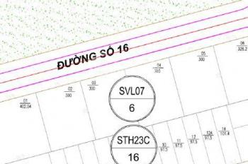 Đất bán: Lô biệt thự SVL07.03, KĐT Lê Hồng Phong II, DT: 300m2, hướng Bắc. Giá bán: 26 triệu/m2