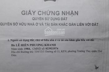 Bán đất phường Linh Tây, Đường số 9, DT 90m2. Đông Nam