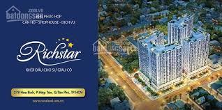 Mở bán shophouse RichStar mặt tiền đường Hòa Bình, Tô Hiệu giá 5.5- 5.9 tỷ/lô. LH PKD 0938.167.529