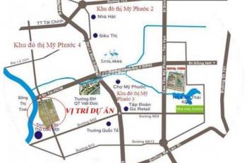 Bán đất Mỹ Phước, Ngay cổng KCN mặt tiền Quốc Lộ 13 dân cư đông điện 3 pha nước máy sổ hồng riêng