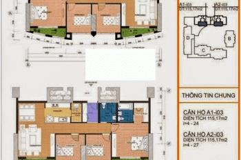 Bán gấp căn 115.8m2 chung cư Vinaconex 1, 289A Khuất Duy Tiến, Trung Hoà, Cầu Giấy giá 24 tr/m2
