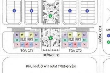 Chính chủ bán căn hộ chung cư A10 Nam Trung Yên giá 25 triệu/m2. Tặng 30% gói nội thất 120 triệu