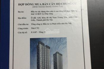 Suất ngoại giao chung cư thương mại A10 Nam Trung Yên giá 25 tr/m2, tặng 30% gói nội thất 120 triệu
