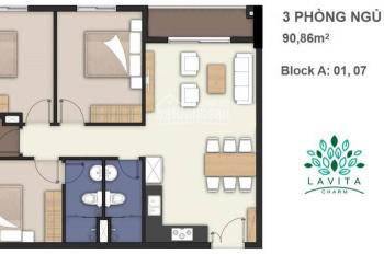 Chính chủ cần bán căn hộ Lavita Charm 3PN, giá cực thấp, tầng đẹp, view quận 1, LH 0934.19.22.79