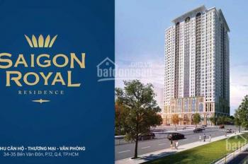Xuất cảnh bán căn hộ Sài Gòn Royal, Q4, 3.75 tỷ, 53m2, view thoáng, số lượng có hạn, LH 0938167529
