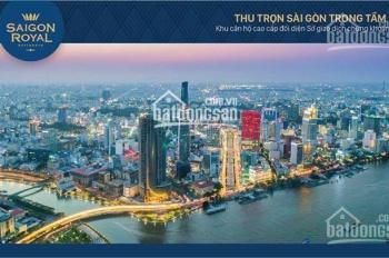 Mở bán đợt 1 thương mại, shophouse Saigon Royal mặt tiền Bến Vân Đồn, Quận 4. LH: 0938-167-529