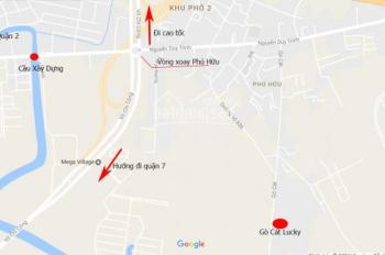 Sang gấp 3 lô đất liền kề KDC Gò Cát, MT Gò Cát, quận 9, DT 80m2, giá 20-25tr/m2, LH 0931610789