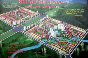 Bán đất tự xây SĐCC, khu đô thị mới Cienco 5, Mê Linh, Hà Nội