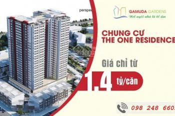 Chung cư Gamuda tòa 1 giá chỉ từ 1,4 tỷ căn 64m2 nhận nhà ở ngay gọi 098 248 6603