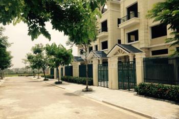 Cần cho thuê biệt thự Dương Nội, DT 200m2, nhà xây 4 tầng hoàn thiện mặt ngoài