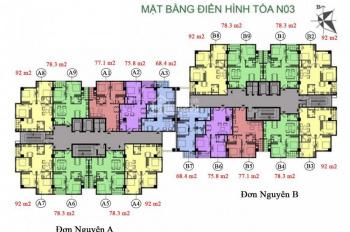 Chú Lâm bán căn hộ CC K35 Tân Mai căn 1206, DT 75.6m2, giá 24tr/m2. LH: 0988146540