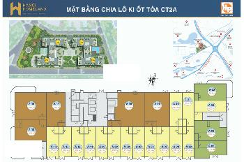 Bán suất ngoại giao kiot CT1B Hà Nội Homeland Long Biên giá rẻ. LH 0917161384
