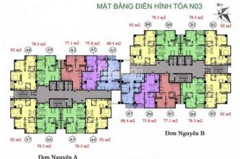 Bán gấp chung cư K35 Tân Mai căn 1004 N03, DT 78.3m2, 2 logia, giá 24tr/m2, LH chính chủ 0966331603