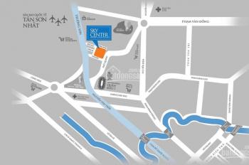Cho thuê officetel DA Sky Center số 10 Phổ Quang, Tân Bình, liền kề SB Tân Sơn Nhất giá 12tr/42m2