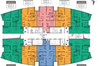 (0981 917 883) bán gấp CH Imperial Plaza, 1810-P3 (95,9m2) và 1505 (79.9m2)-P1, giá 25tr/m2