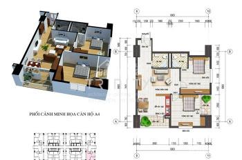 CC cần bán căn góc 92m2, tầng 18 tòa nhà CT4 khu đô thị Văn Khê, Hà Đông. LH 0963475000