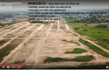 Đất nền 9tr/m2 thị xã Dĩ An, Bình Dương, hotline: 0908028076