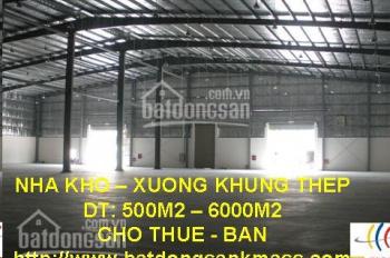 Cho thuê kho xưởng 1500m2 - 6000m2