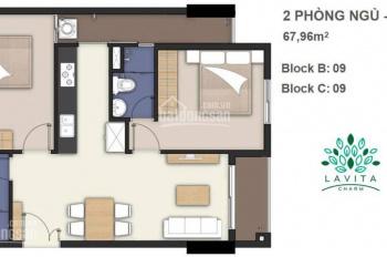 Chính chủ bán gấp căn hộ 2PN 2WC, 68m2 Lavita Charm Thủ Đức giá Chủ Đầu Tư. LH 0934192279