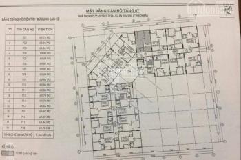 Cần bán căn hộ chung cư CT2A Thạch Bàn, tầng 1210 DT 69m2, giá bán 16tr/m2, LH 0983072573