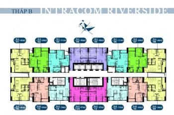 Chị Ngân bán nhanh căn hộ 1615 - 64m2, view sông Hồng CC Intracom Đông Anh, giá 21tr/m2. 0904673568