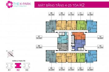 Chính chủ cần bán K2-2002 dự án The K Park, LH: 0904588816