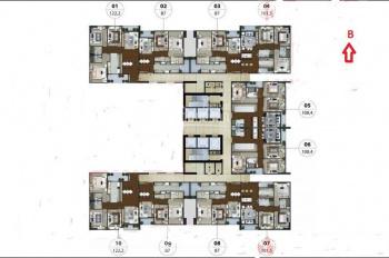 Bán căn hộ 01 chung cư Lạc Hồng 1 (N01 - T5) Ngoại Giao Đoàn, 122.2m2, 3 mặt thoáng, 36 triệu/m2