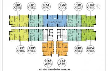 Thu hồi vốn đầu tư bán cắt lỗ cc An Bình City, căn 1606-74m2, 1610-83m2, 1612-86m2, giá 26tr/m2